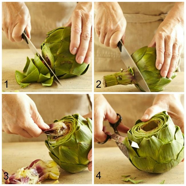 instructions for cooking artichoke