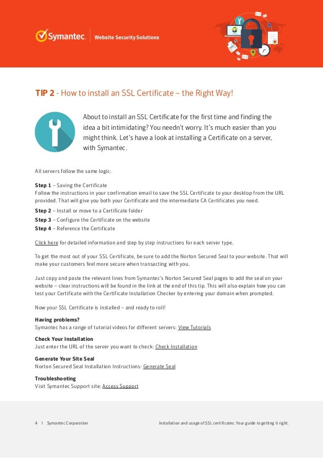 verisign certificate installation instructions