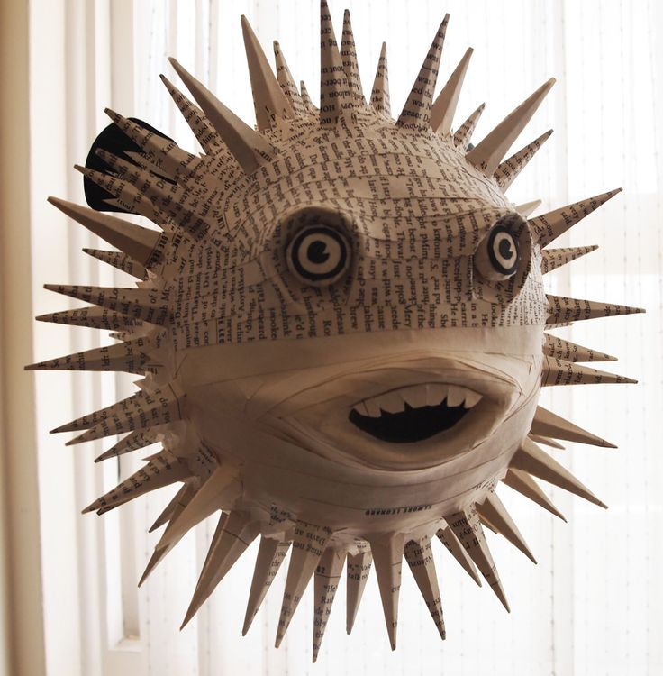 papier mache fish instructions