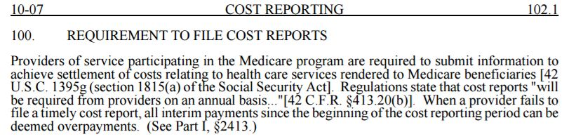 medicare cost report instructions 2017