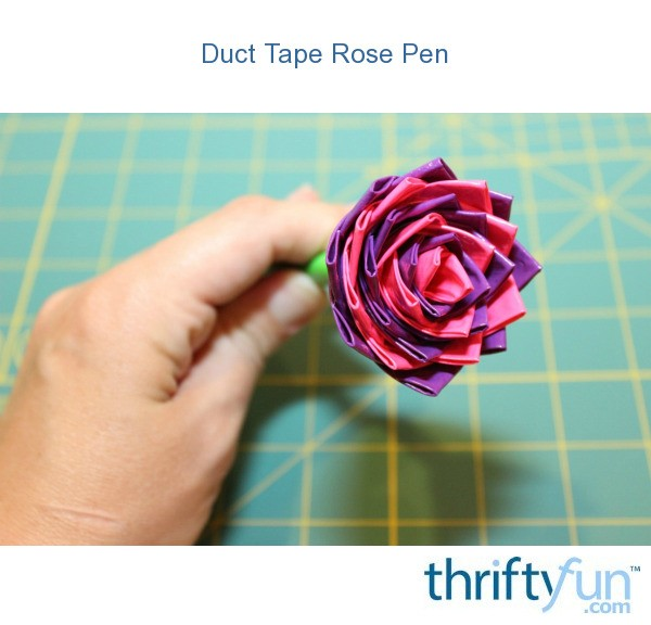 duct tape bow pen instructions