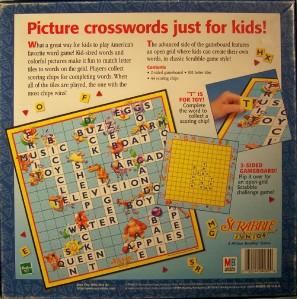 scrabble junior brand crossword game instructions