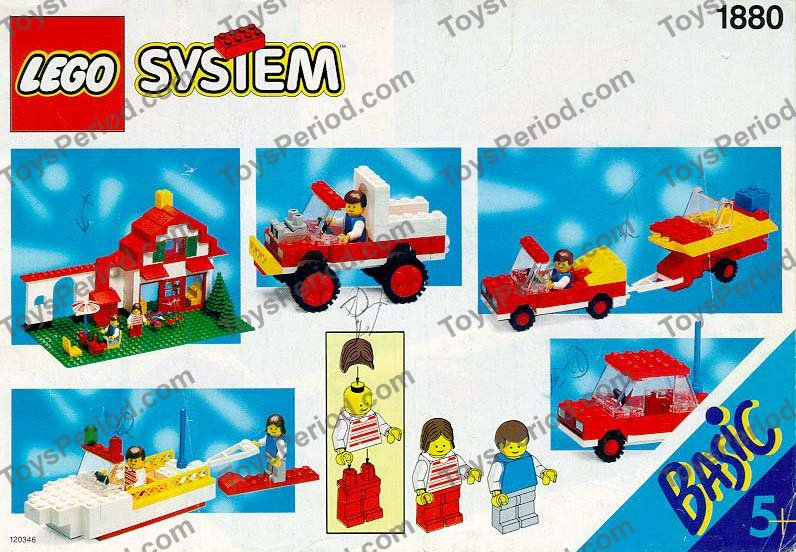 1992 lego red instruction box