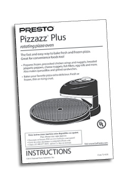 pizzazz plus rotating oven instructions