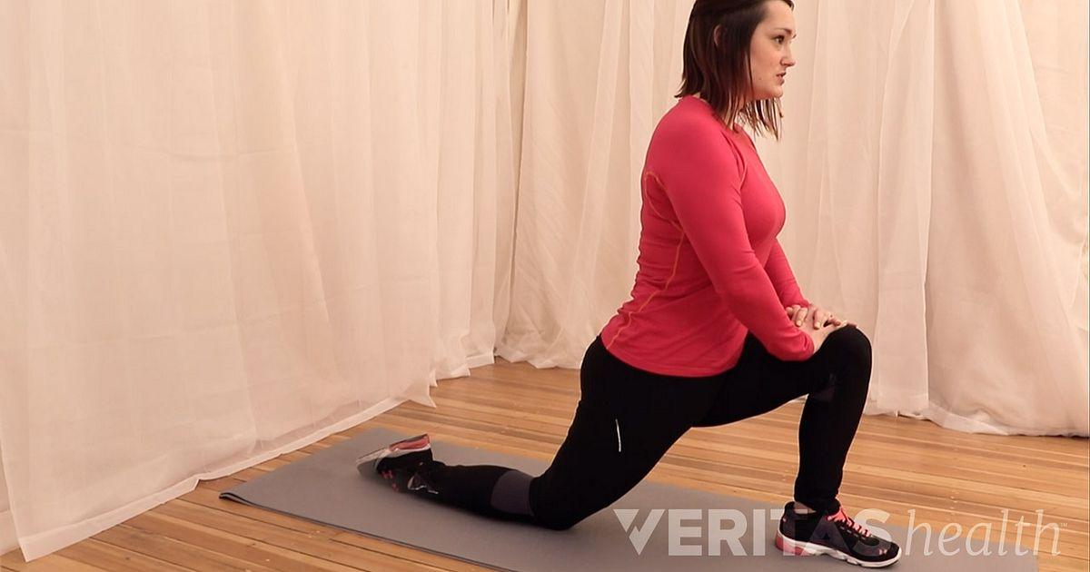 standing hip flexor stretch instructions