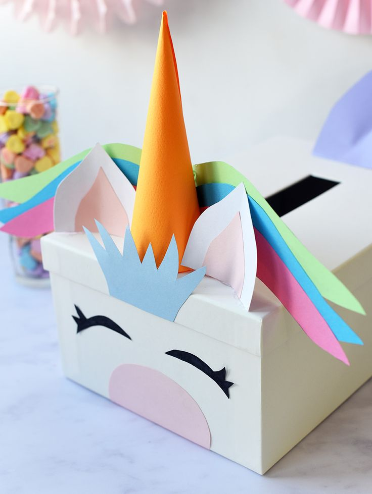 unicorn valentine box instructions