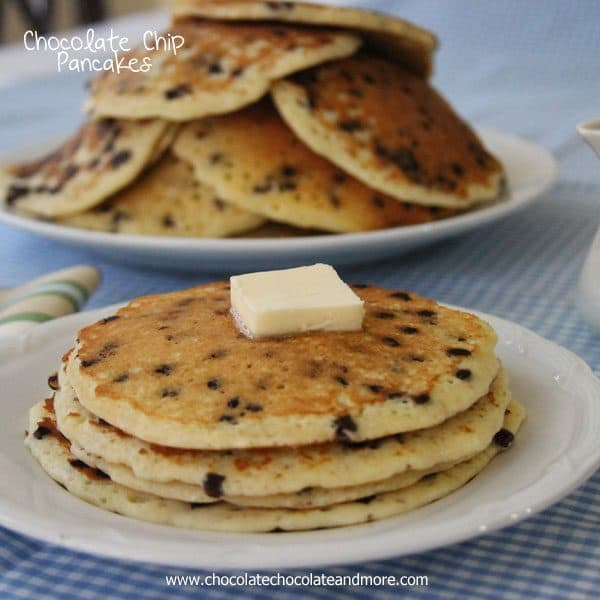 instructions on how to make chocolate chip pancakes
