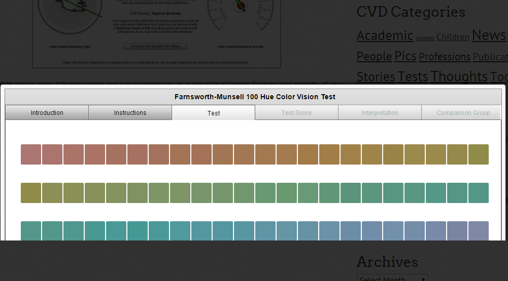 farnsworth munsell 100 hue test instructions
