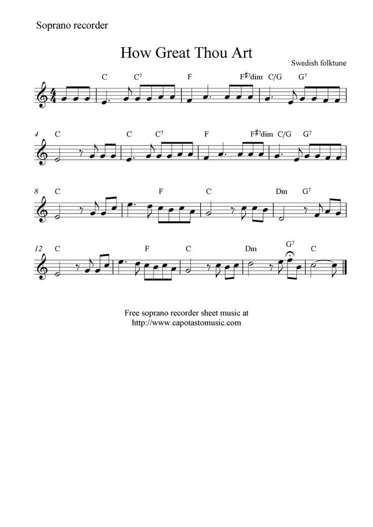 music notes recorder instructions