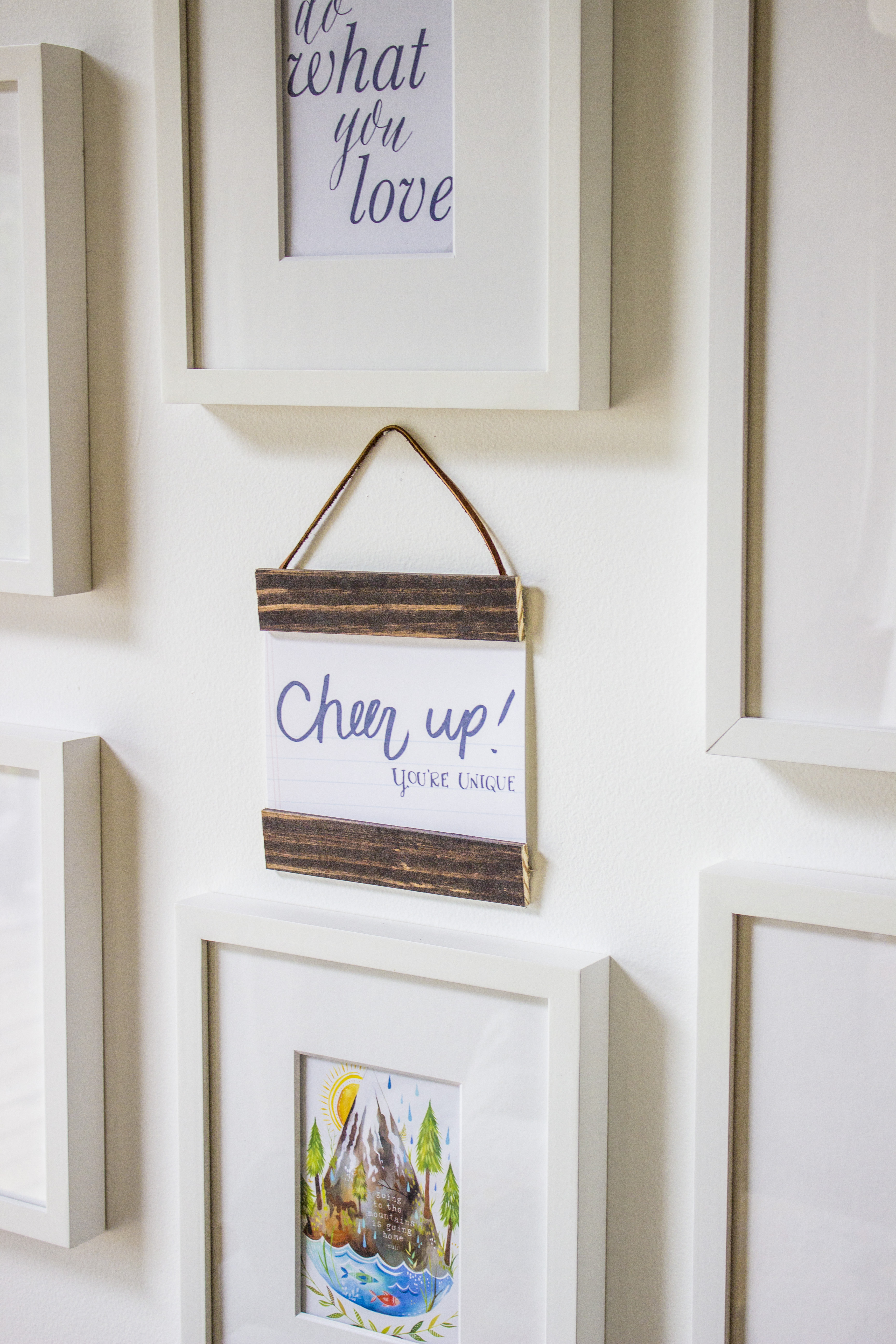 instructions for making mini wooden photo frames