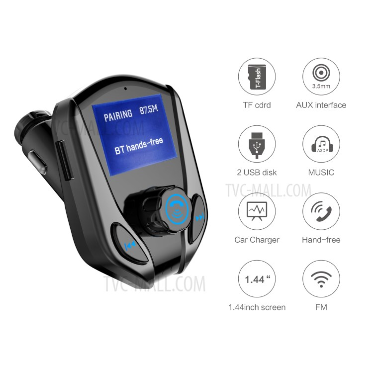 bluetooth v2.1 car kit mp3 player fm transmitter 2.1a instructions