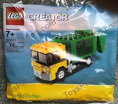 lego orange garbage truck instructions