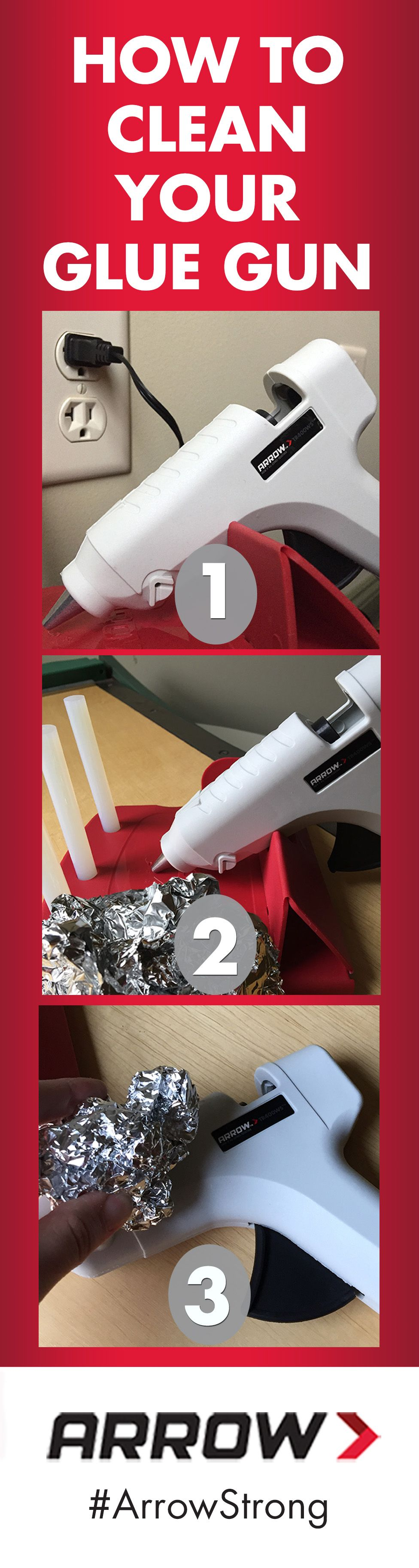 arrow hot glue gun instructions