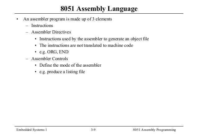 8051 instruction machine code