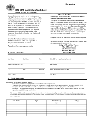 confirmation of verbal instruction sheet