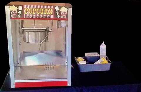 commercial popcorn machine instructions salt