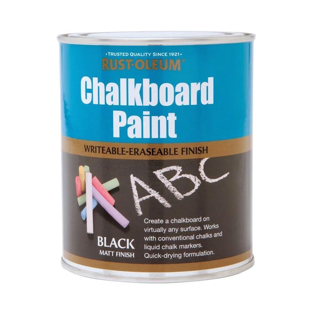 rust oleum chalkboard spray paint instructions