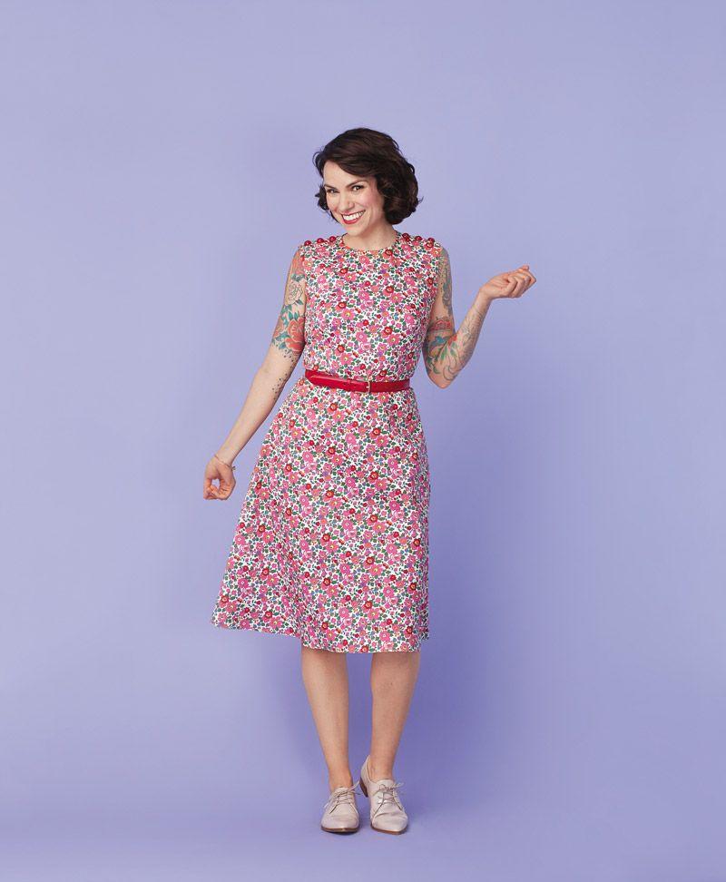 gertie floral dress instructions