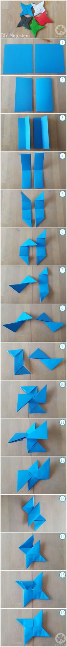 how to make a ninja star easy instructions