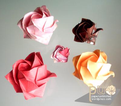 easy origami kawasaki rose instructions