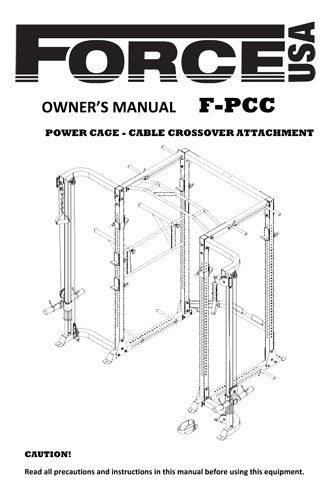 force usa power rack assembly instructions