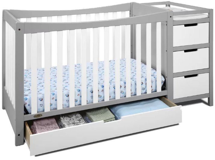 graco convertible crib with changing table instructions