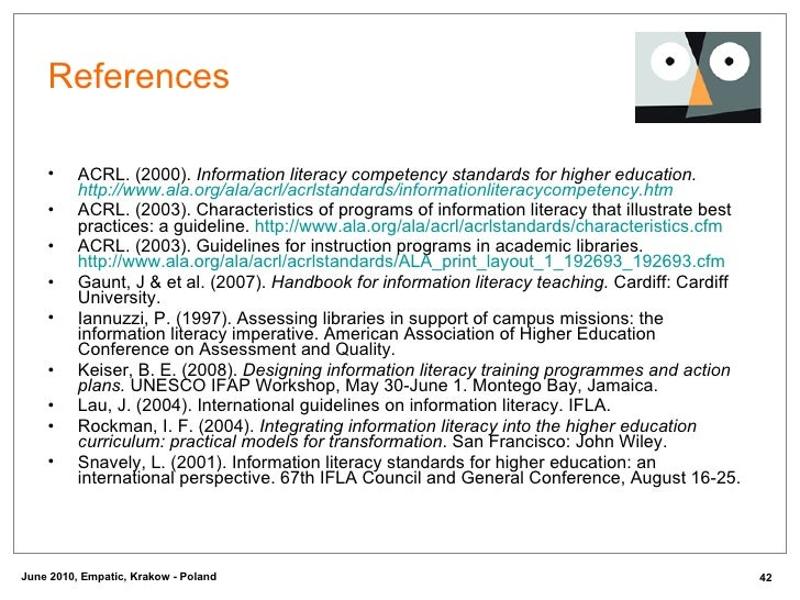 guidelines for instruction programs in academic libraries