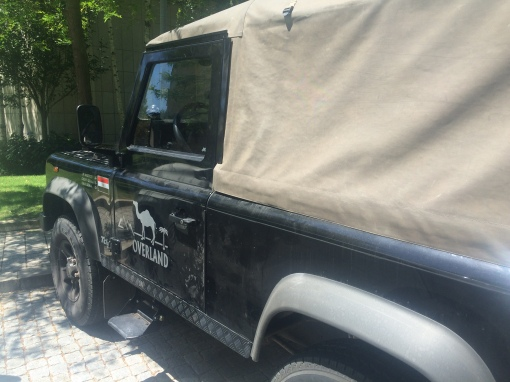 land rover defender folding side step fitting instructions