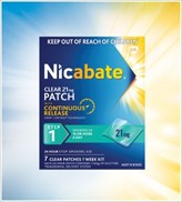 nicabate 21mg clear patch instructions