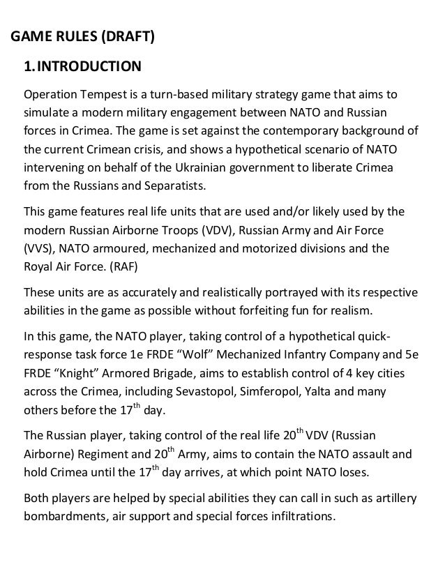 operation game instructions 2015
