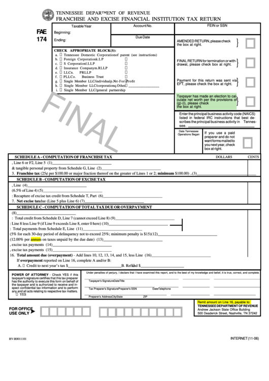 tennessee business tax return instructions