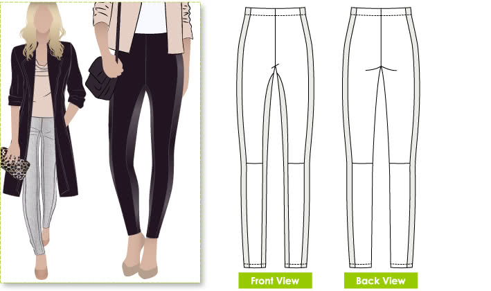 tessuti sewing instructions for ponti pants